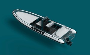 electric boat awards- artist conception open top speedboat