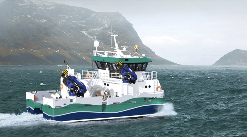 Volvo Penta emobility will help with electic ferries like this shown in arctic water