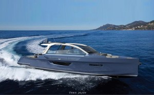artist conception of electric yacht