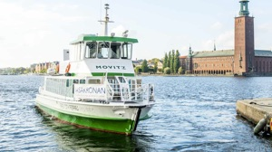 Movitz electric ferry converted from diesel