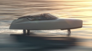 Dutch hydrofoiling eboat at full speed (artists impression)