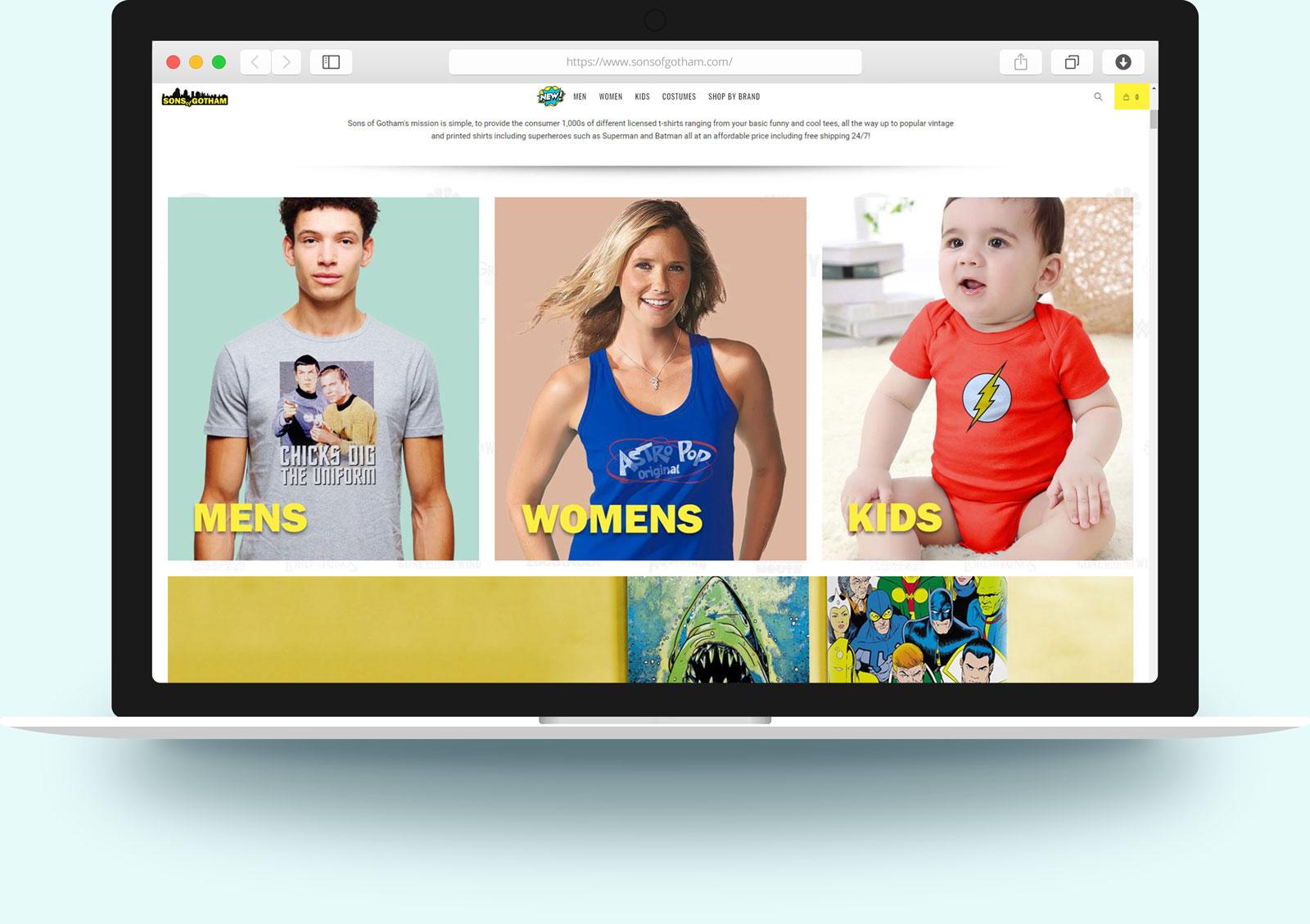 SOG macbook web design