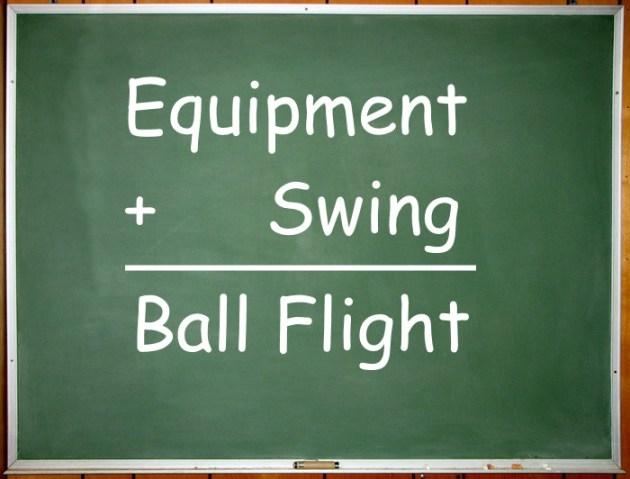Equipment Plus Swing Equals Ball Flight