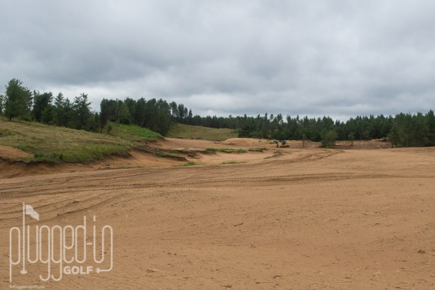 #7 at Sand Valley, a long par 5.