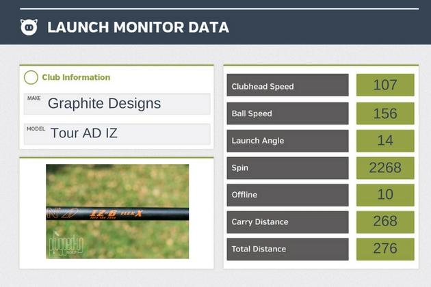 Graphite Designs Tour AD IZ Shaft Data