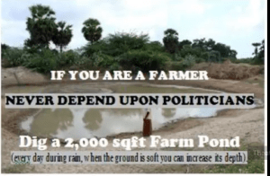 Farmer without a pond is not a farmer