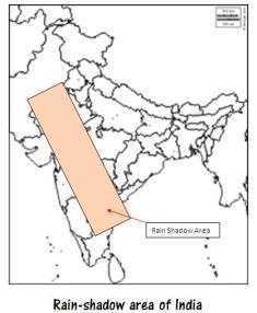 Rain Shadow area of India