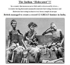 The Indian Holocoust - where 3 times more Indians were killed than Jews