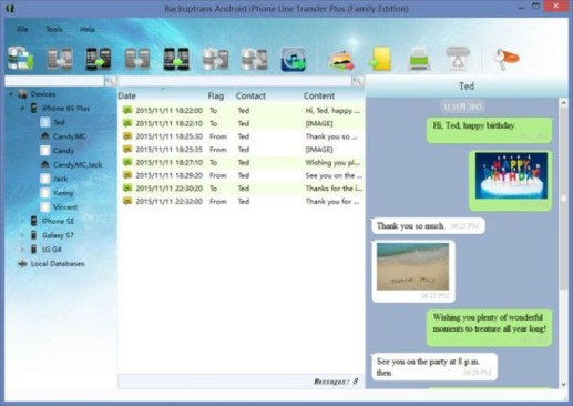 Backuptrans Android iPhone Line Transfer Plus 3.1.57 With Crack