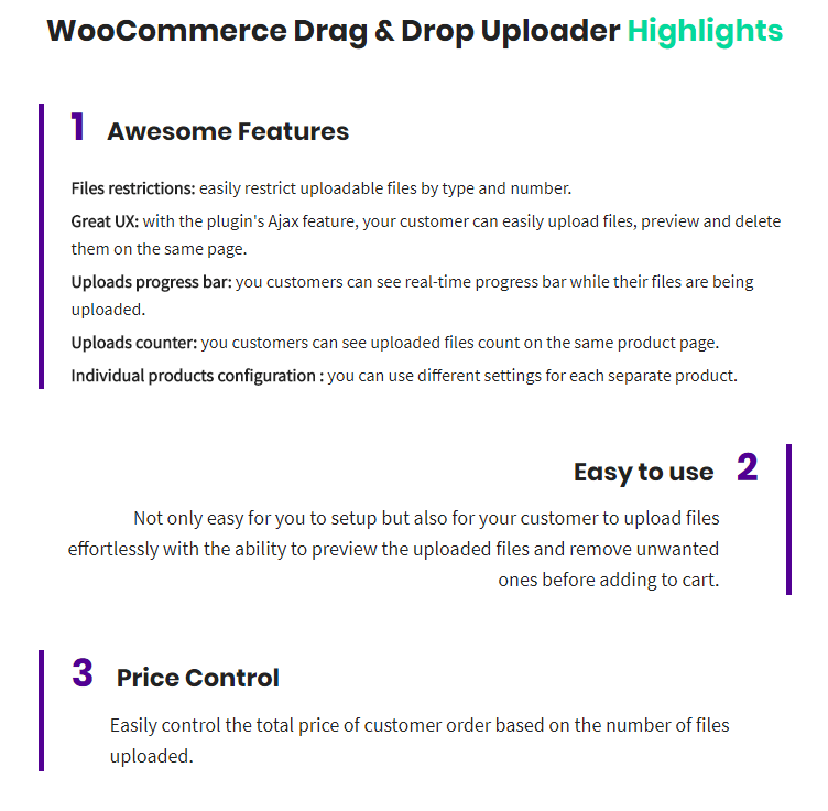 WooCommerce Drag & Drop Uploader | Ajax File Upload - 1