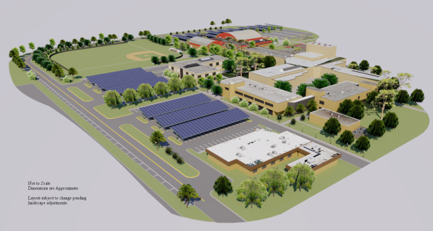 solar canopies planned for the Dundalk campus of CCBC