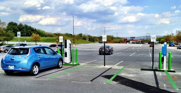 Hagerstown Premium Outlets Electric Vehicle CHdeMO NRG eVgo Nissan Leaf