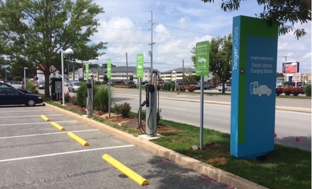Tanger Outlets Seaside Center Charging Stations