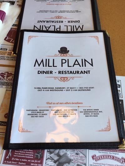 Mill Plain Diner table