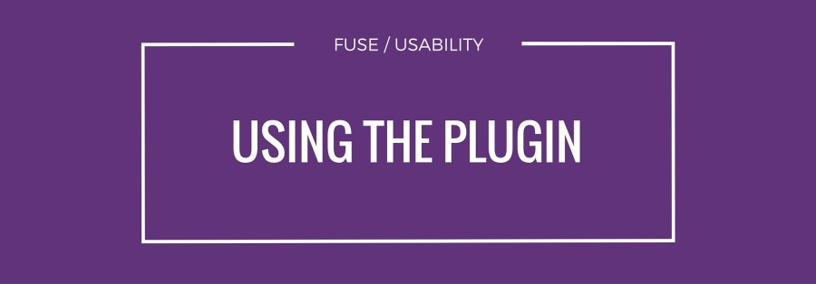 can you use the plugin