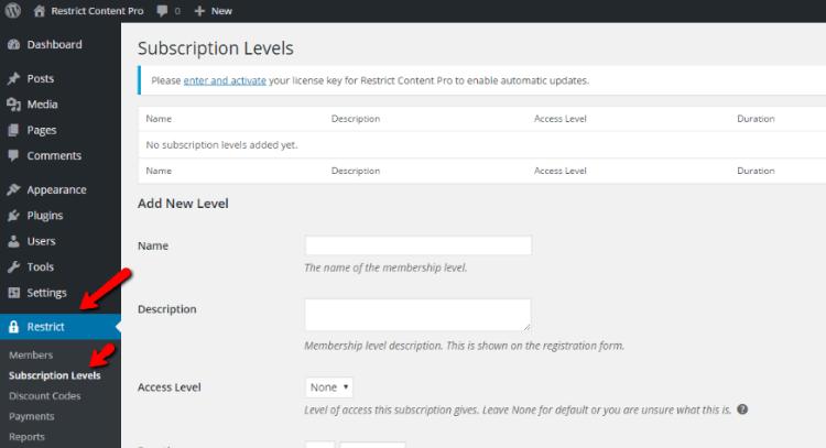 restrict-content-pro-subscription-levels1