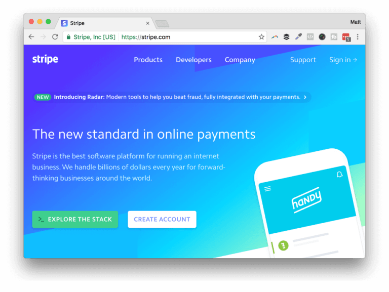 Stripe is the preferred gateway for EDD