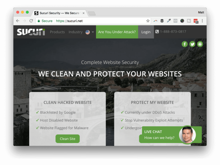 Website security by Sucuri