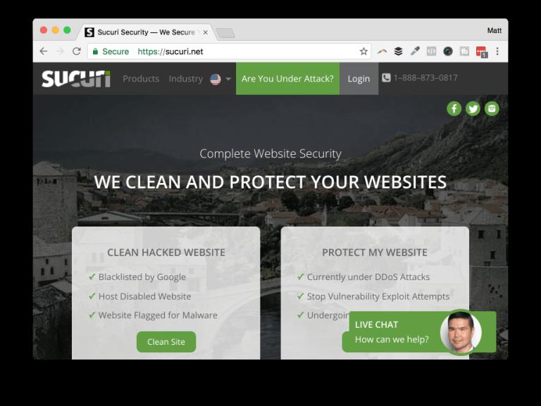 Website security by Sucuri
