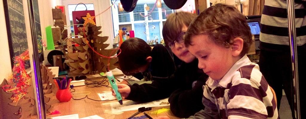 Familiedag Kerst 2017 - Family Day Christmas 2017, 3D pens for children