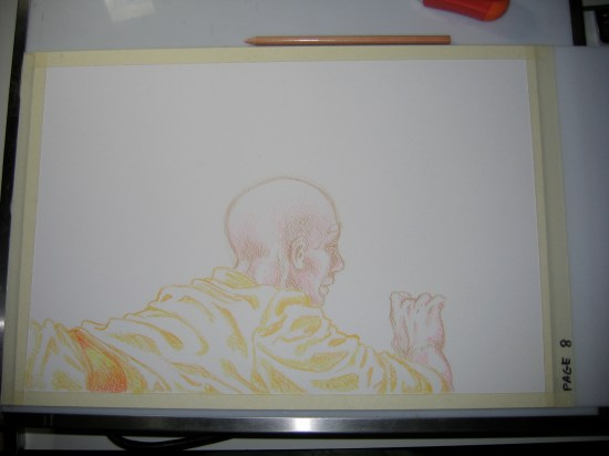 color pencil cover drawing