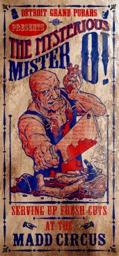 """""""The Mysterious Mister O"""" vintage circus poster"""