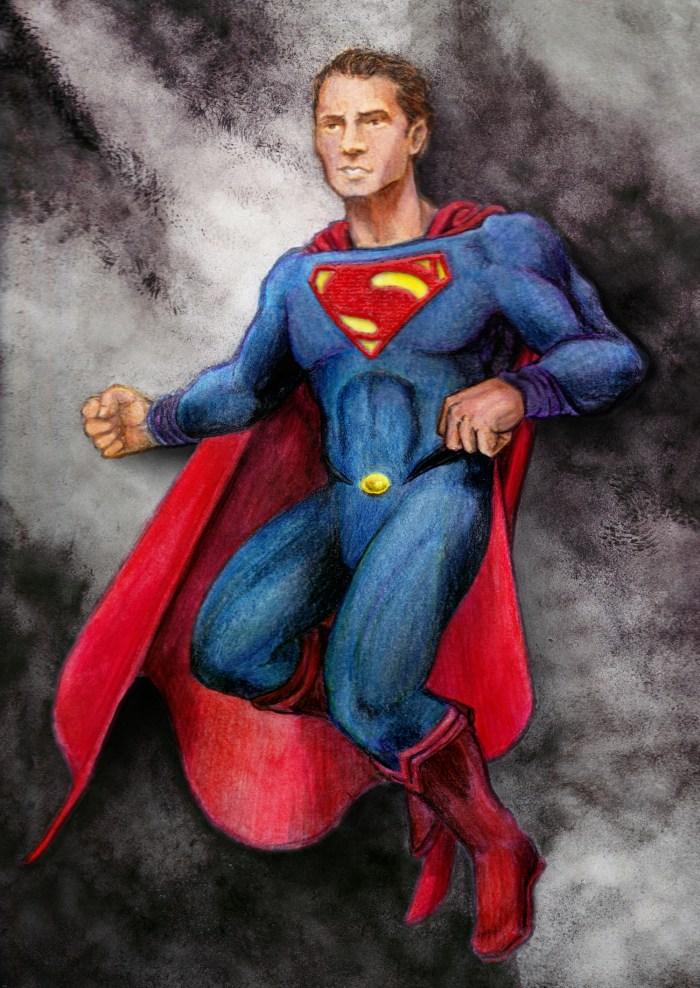Man of Steel illustratrion by Parick Lugo