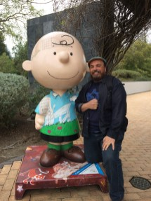 Charlie Brown statue welcomes all.