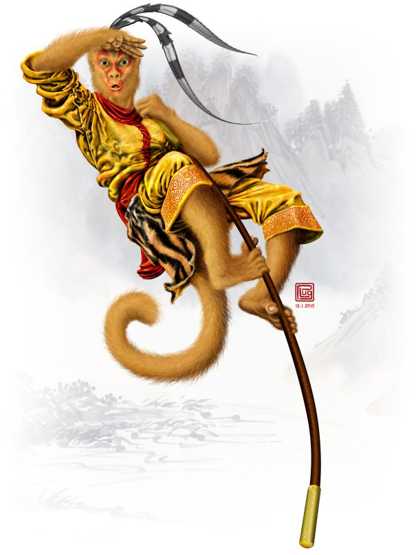 Monkey King digital illustration