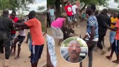 Amasaman residents beat up police officer