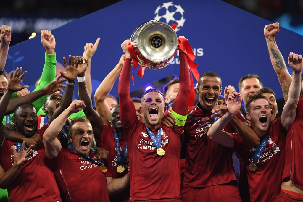 Image result for liverpool vs spurs 2018-19 uefa champions league final;