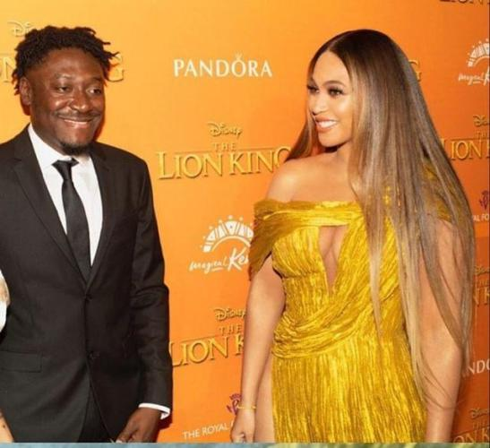 Guilty Beatz and Beyonce at 'The Lion King: The Gift'  premiere in London