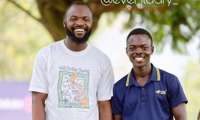 Mr Eventuary with his former manager Theo Wade