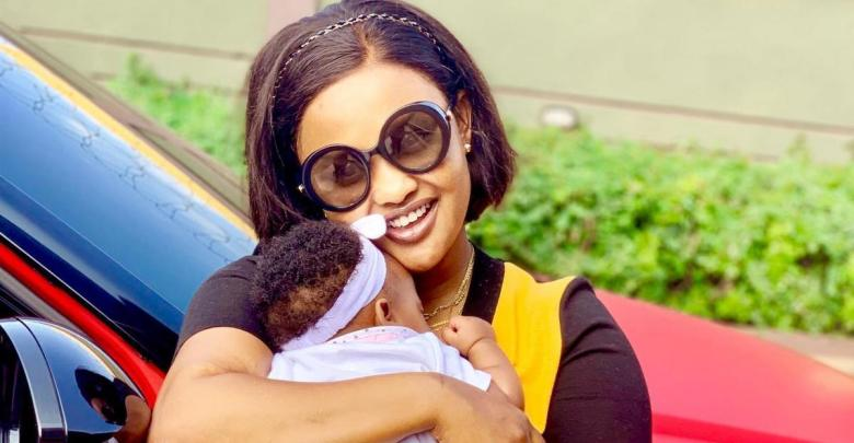 Nana Ama McBrown and Baby Maxin
