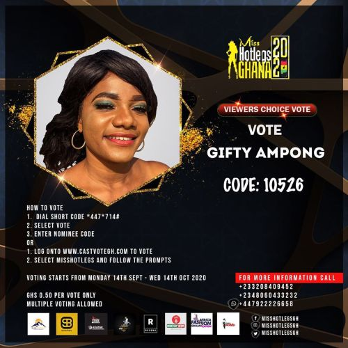Gifty Ampong Miss Hotlegs Ghana 2020 contestant