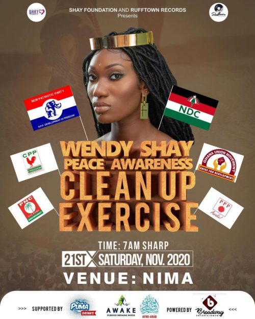 Wendy Shay Peace Awareness Clean Up Exercise