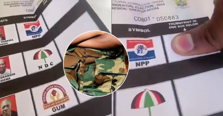 Soldier Military man insult john mahma vote akufo addo