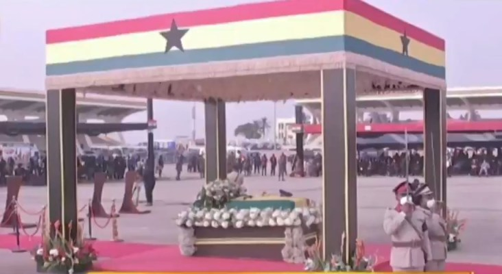 military burial service for J J Rawlings
