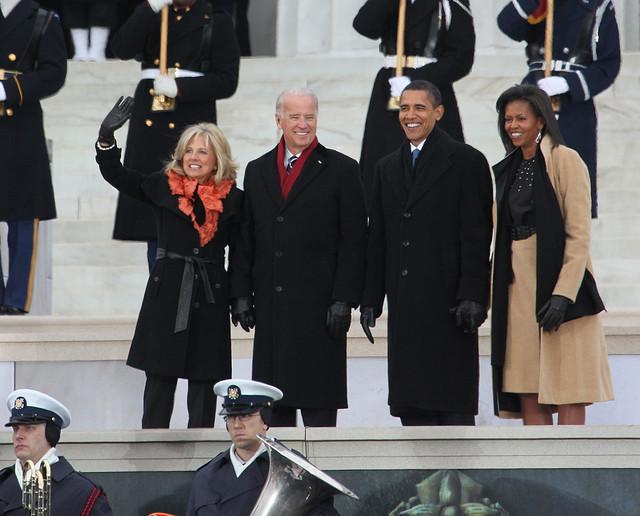 Barack y Michelle Obama junto a Joe y Jill Biden