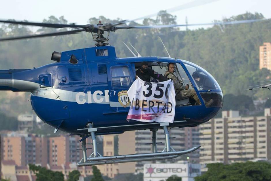 Venezuela helicóptero contra gobierno de Maduro