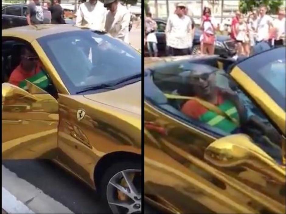Horrible ferrari dorado de Mónaco será de Deschamps o Lula?