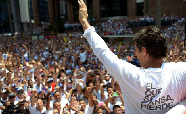 El que se cansa pierde, el lema de Leopoldo López