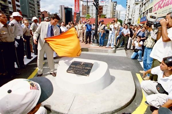 Leopoldo López en un acto oficial en Venezuela