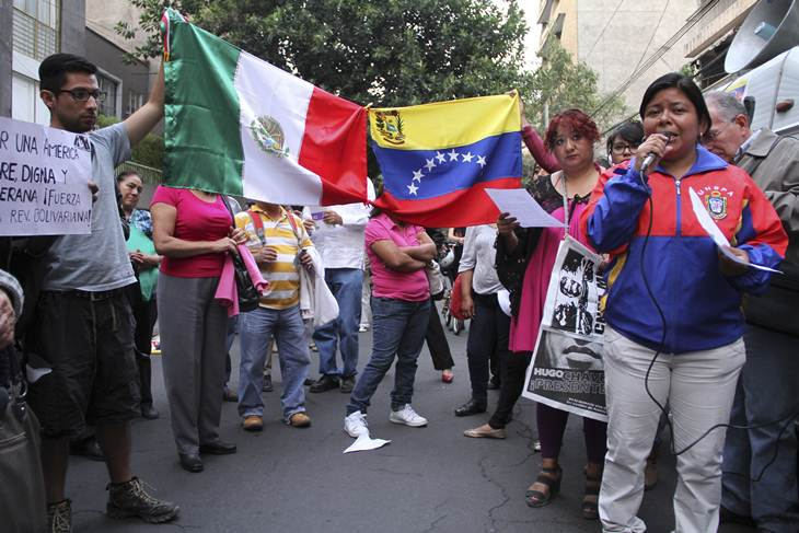 Embajada venezolana busca apoyo en México