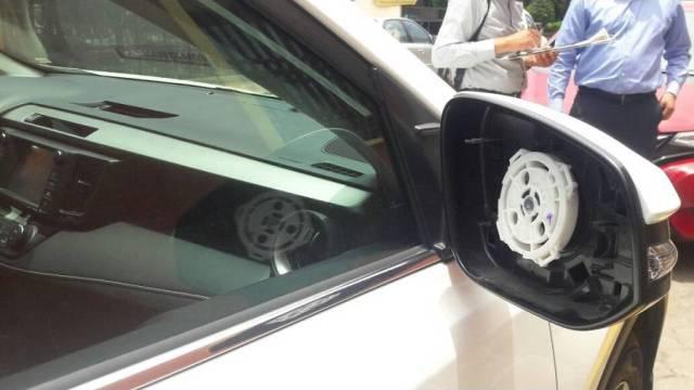 le roban los espejos a camioneta de Zepeda