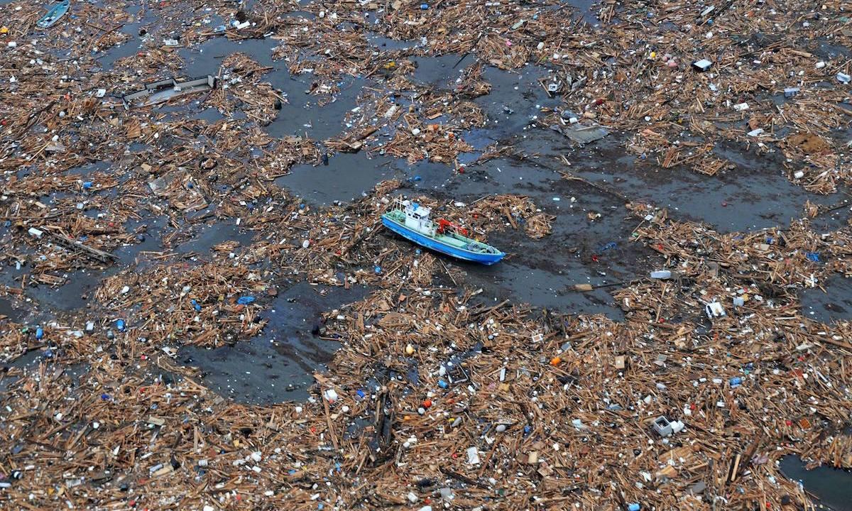 mancha basura, mancha deshechos, océano pacífico, contaminación mares