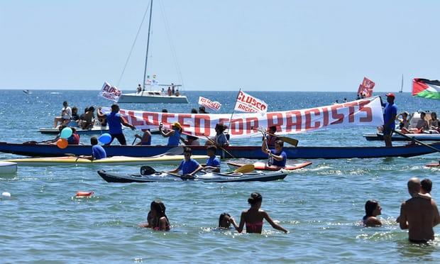 protesta contra el barco racista nazi xenófobo C star