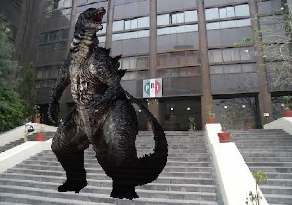 Godzilla, Centro Histórico, avión, mexicanos