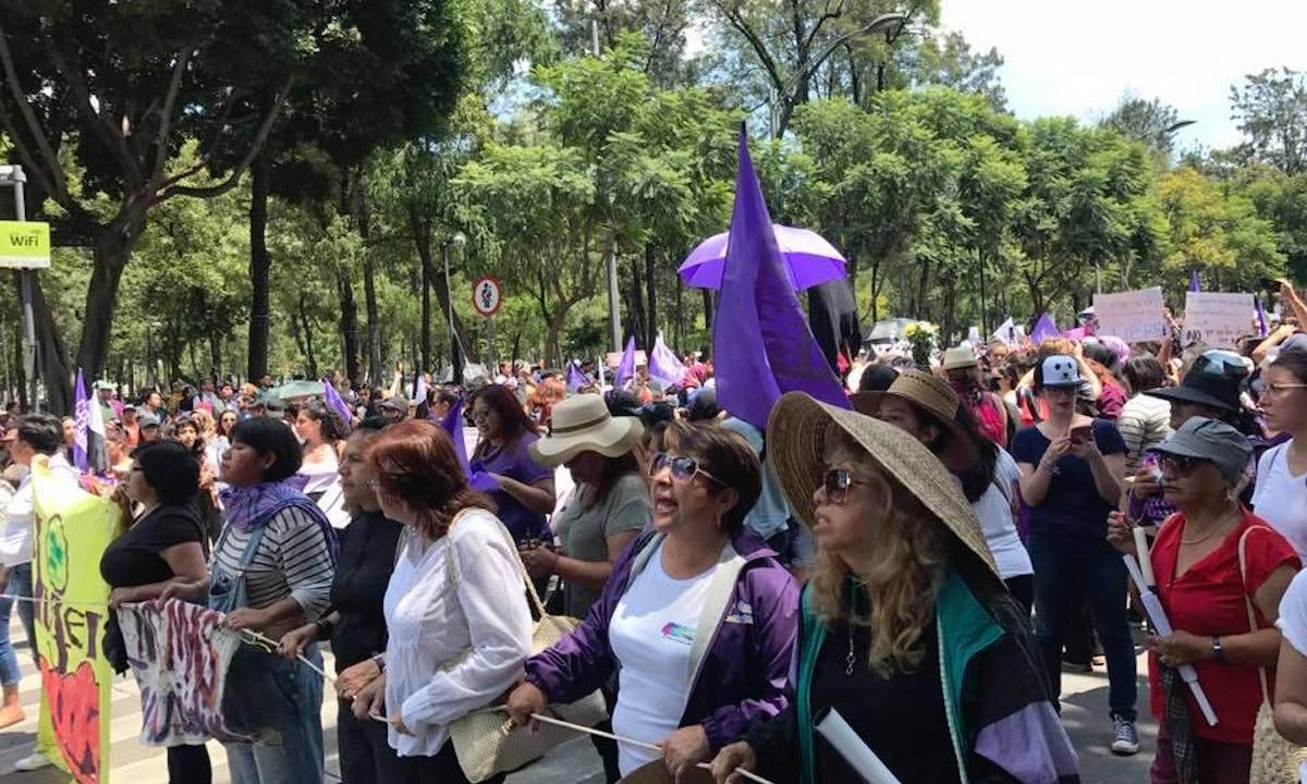 Cabeza de la protesta por el feminicidio de Mara