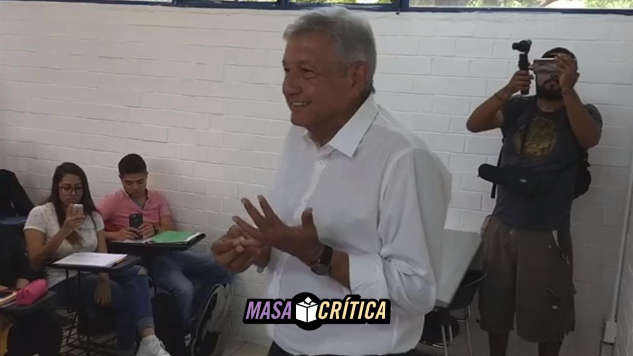 AMLO en la UNAM, porque sepa por qué
